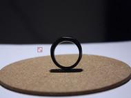 棱面 手工制作紫光檀黑檀木戒指情侣戒指尾戒男女指环送生日礼物