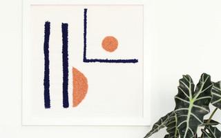 戳戳绣/戳戳乐DIY制作过程:抽象风家居戳戳绣装饰画