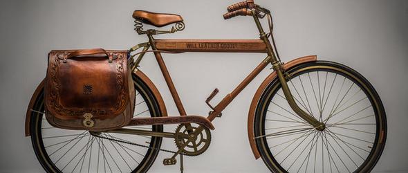 复古风的自行车,来自WILL Leather Goods皮革工作室