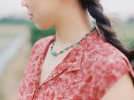 「气息」KOAN 绿松石吊坠碧玺圆珠项链