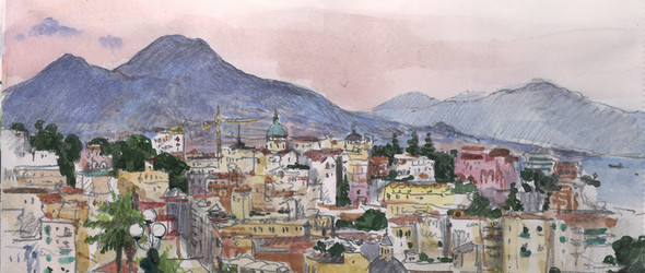 手绘游记 - 俄罗斯艺术家 Diana Kuksa 的Travel book