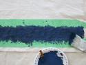 手绘鲸鱼帆布装饰画/壁挂diy教程
