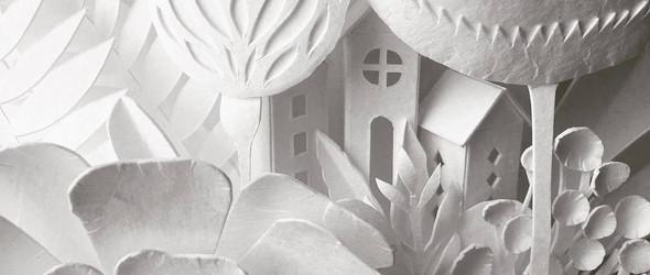 洁白而优雅的纸雕艺术 - 艺术家 Elsa Mora 作品