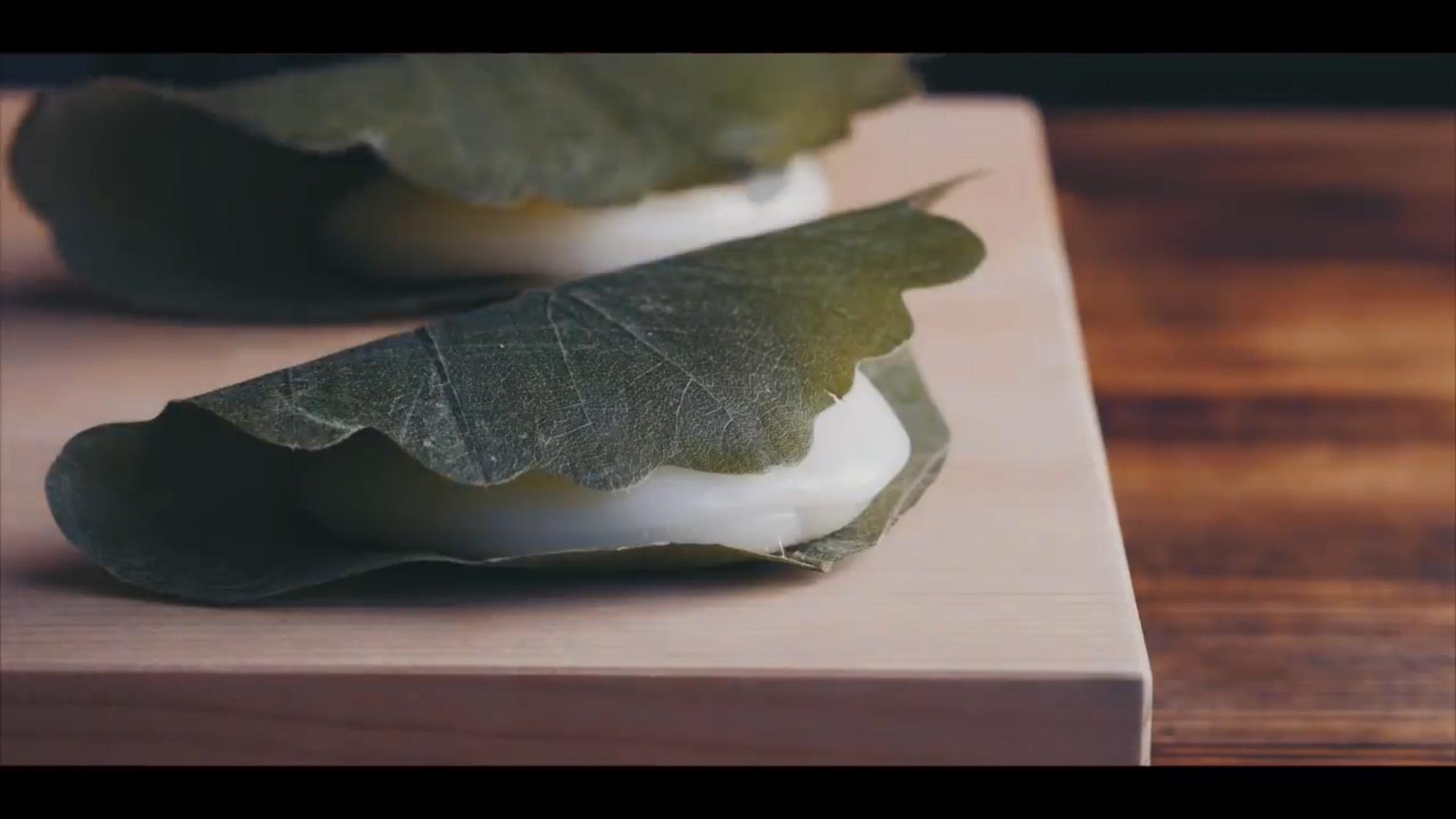和果子视频教程:如何制作传统和菓子『柏饼』?