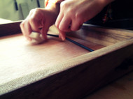 Pucket啪啪球-手工原木桌游-黑胡桃橡木-iDo手工实验室