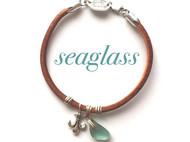 【原创设计】天然海玻璃手工手链