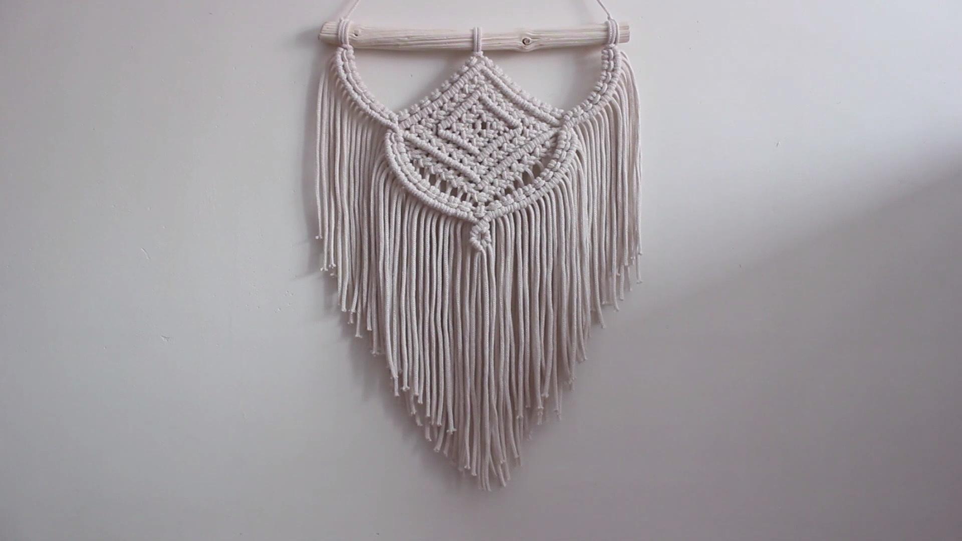 DIY Macrame绳编进阶教程:波西米亚风结绳挂毯