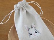 刺绣萌兔兔束口袋