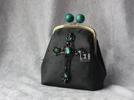 【LXB私人设计】法式刺绣钉珠十字架口金包