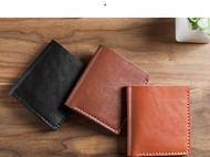 蠢小鱼 迷你两折可以放照片的diy自己做的钱包材料包
