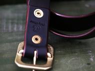 集点手作坊 手工皮具棕色意大利植鞣革黄铜皮带头高大上气质皮带