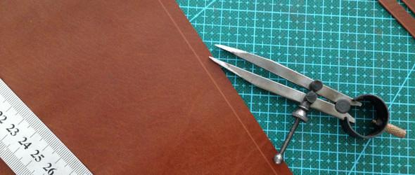 皮革长钱夹制作教程:编织长夹的制作分享(原创)