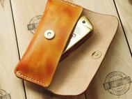 手工制作 手染意大利植鞣革真皮 BLUS 布鲁斯10孔口琴套 口琴包
