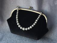 【LXB私人设计】仿马毛珍珠手提口金包