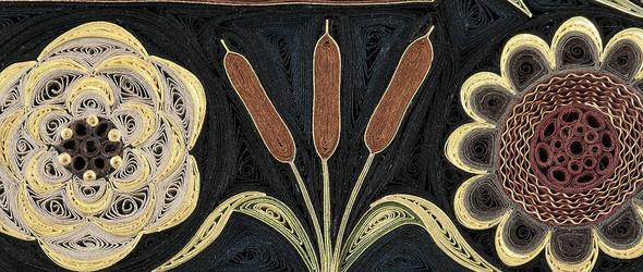 日本的衍纸艺术来表现波斯地毯:纽约艺术家 Lisa Nilsson 的大型衍纸艺术作品