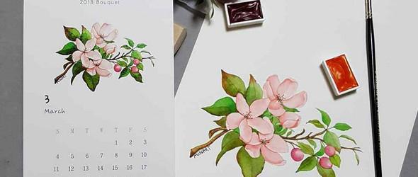 比真花更清新美丽的水彩花卉 | 韩国插画师Mina Park@minartillust 作品