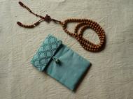 佛的垂怜 手工 草木染 佛经 佛珠 保护袋