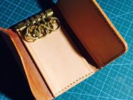 做旧意大利植鞣钥匙包