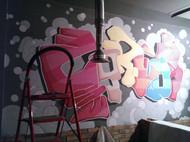 帮朋友做的墙绘