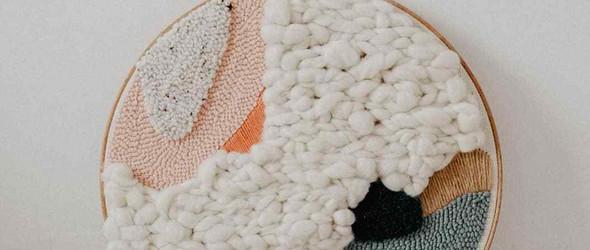清晰自然的戳戳绣与编织挂饰 | 纺织设计师Julie Robert的新作加精选