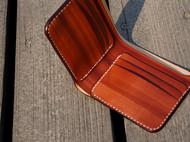 白馬手造 钱包 短夹 手染赤茶色
