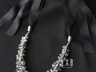 【LXB私人设计】剔透灰色水晶系带项链