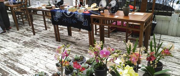 树脂画联盟参与福州手工艺术小展