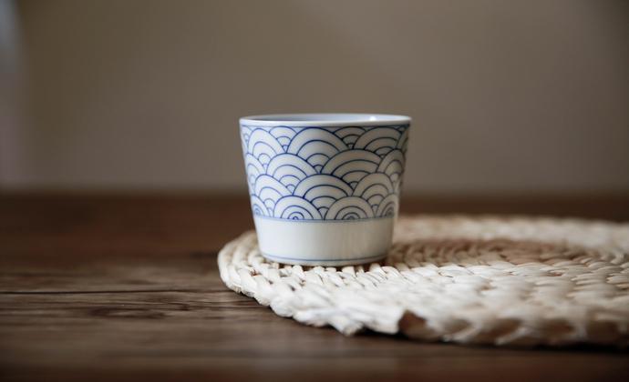 器十二  景德镇纯手工青花手绘水杯 日式荞麦猪口杯