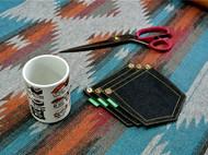 Tsanggoods Blues系列手作丹宁鼠标垫+杯垫套装