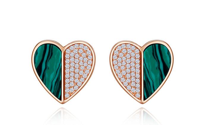 CAMBAS/刊芭思珠宝桃心耳钉女法式高级感简约小巧925纯银耳饰品
