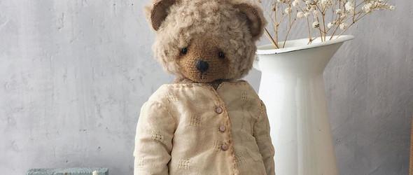 复古风的可爱泰迪熊玩偶 Diana Yunusova