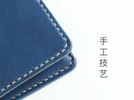 手工牛皮钱包短款 植鞣皮简约复古创意零钱袋设计纯手缝钱夹男士女士