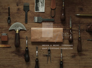 Typei Hang Wallet No.4 原色枥木鞍革做旧长夹