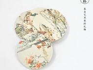 川朴艺术设计西湖美景植物艺术杯垫