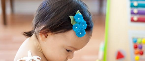 【DIY】 很萌,很色彩,很漂亮的羊毛毡的儿童发夹