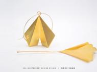 【银杏】初独立设计 折叠银杏几何个性原创纯银|镀金简约耳环耳坠