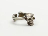偶屿925银骷髅骨元戒指