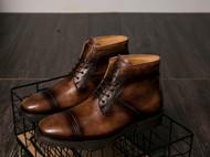 2016秋冬男士马丁靴植鞣牛皮手工擦色复古男皮靴中筒外贸男靴真皮