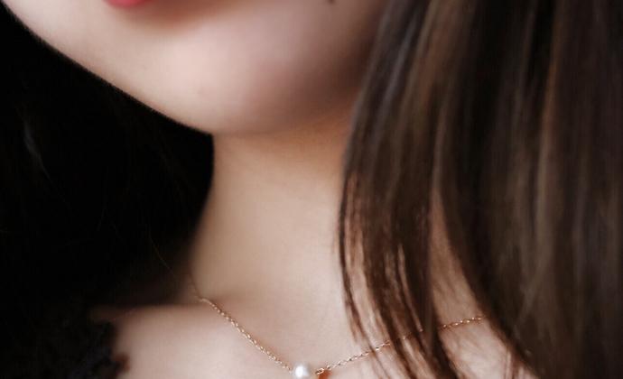 【复刻经典】天然圆珍珠楠楠小张漫生活不掉色简约项链锁骨链礼物