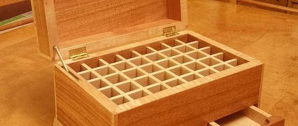 #木工# 带着独特机关的药盒式工具箱制作过程