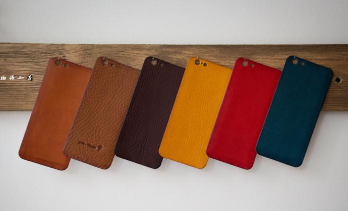 『悦物语工房』意大利Minerva box 植鞣皮 iphone 保护贴