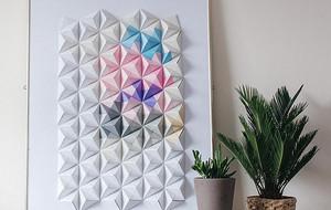 DIY折纸教程:以组合折纸法创造多面的立体墙饰