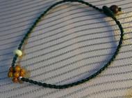创意橄榄核球珠脚链