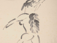 河童醉月 日本作家浅井菁亭的水墨画 潇洒自在 日本直邮 包邮 日本传说