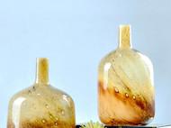 北欧现代艺术花瓶细口 圆柱玻璃插花花器家居客厅工艺品创意摆件