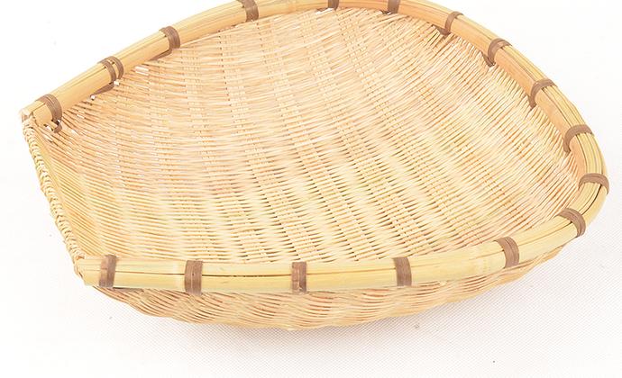 三穗竹制品 全竹淘米篮筲箕框 纯手工沥水筛