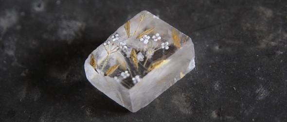 天然水晶与自然手绘   日本设计师宏美的水晶配饰