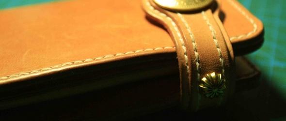 手工皮具教程:长款钱包财布(植鞣革)完整制作过程及制作教程