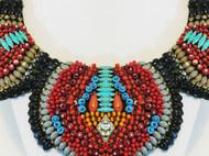 HONG设计师原创红色 民族风 手工定制 串珠 重工定制项链