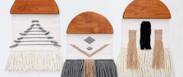@fernandfiber:清新明快的几何编织挂毯